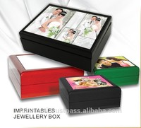2015 hot wooden keepsake Boxes insert ceramic tile for sublimation/ photo proof case