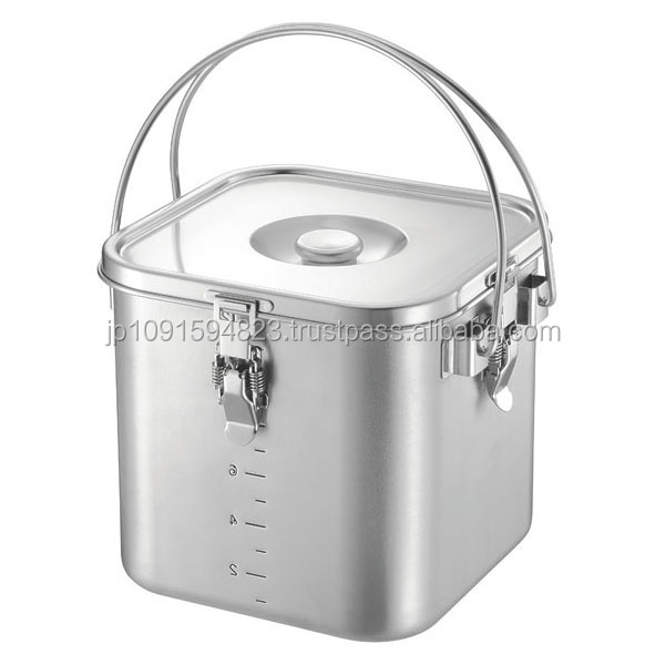 Stackable food container with measuring marks for home & garden equipment