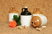 Ceramic souvenir bottle for wine, vodka, brandy, cognac, whiskey