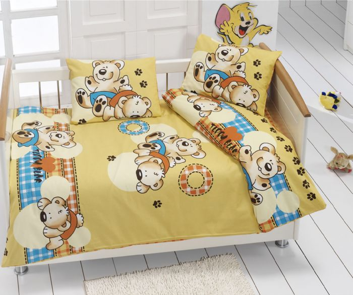 Baby Bedsheet & Duvet Set 100% cotton equisite designs - 4 pcs