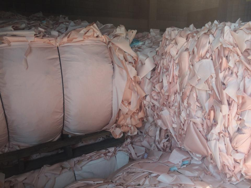 Airbag waste: Nylon fabric