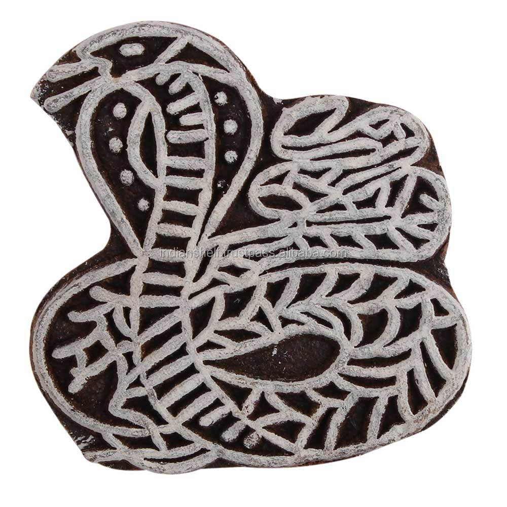 Snake Shape Handmade Wooden Canvas Printing Blocks Decorative Art Craft Wholesale WB-2610