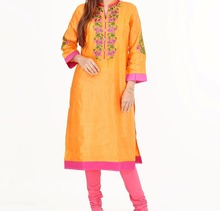 Stylish Womens Long India Tunic Top Womens elegant embroidered indian pakistani kurti , long tunic dress, wedding party dress
