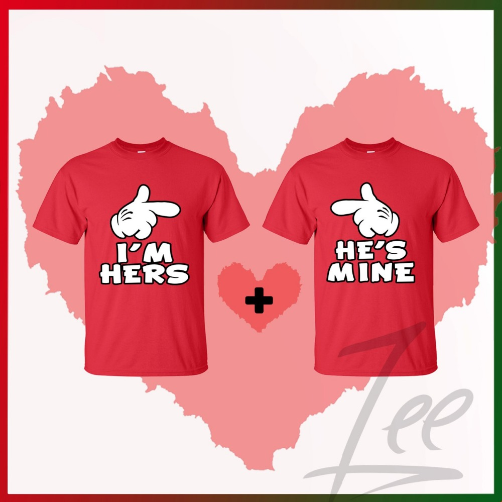 couple printed love t shirts for wholesale OEM cotton fabric