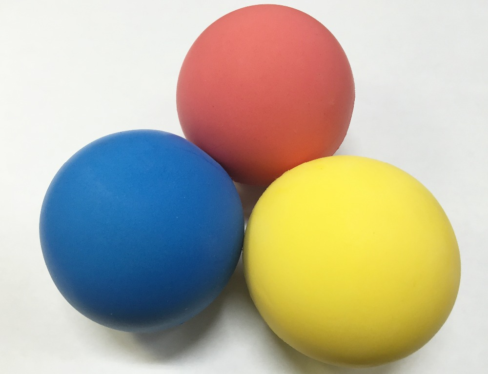 3-in-1Red Blue Yellow colored NR Sponge Ball Toy Sponge Ball Made in Malaysia
