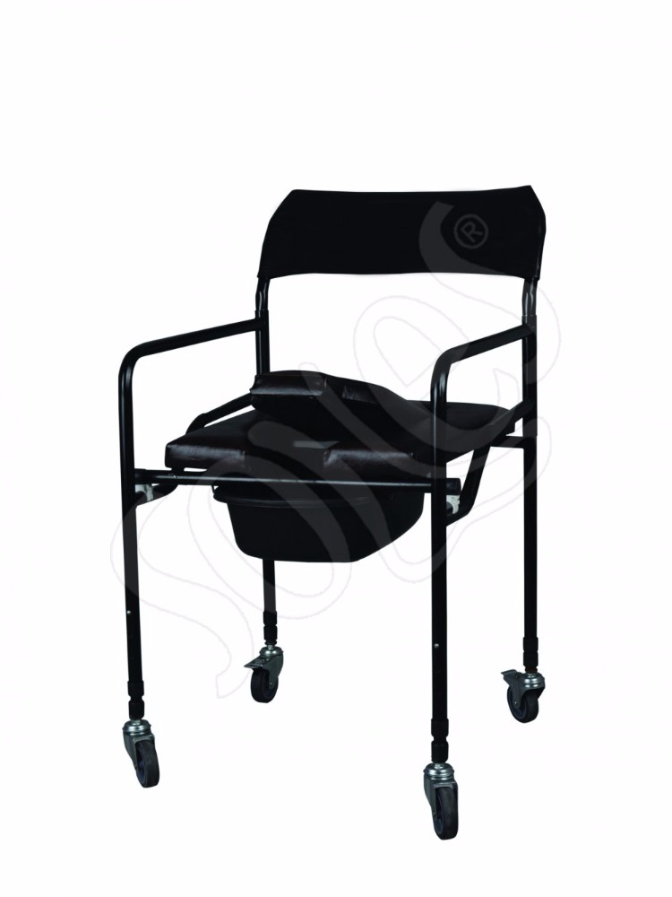 ALUMINIUM LIGHTWEIGHT FOLDING COMMODE CHAIR,FOLDING TOILET CHAIR ELDERLY
