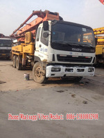 Used Concrete Pump Truck of Isuzu,Used ISUZU 37m pump truck , 52m