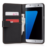 Wallet Case Cover for Samsung Galaxy S7 Edge - Black