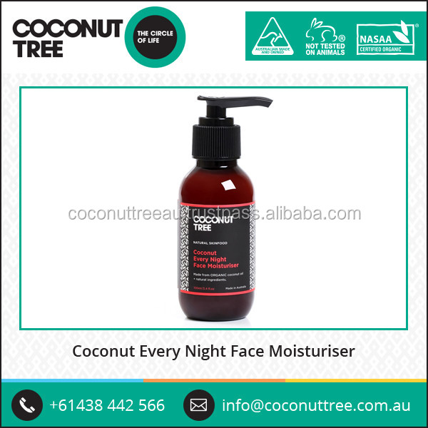 Australian Made Coconut Face Moisturizer Natural Skin Care Products