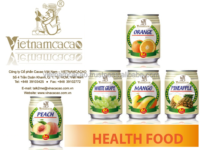 Fruit juice with excellent taste from Vietnamcacao/tetra pak