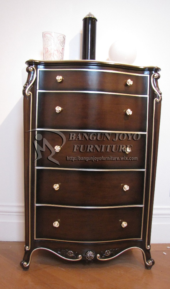 Antique walnut Display Cabinet With Distressed Finish, Ludvig Cabinets