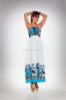 Buy Online Beachwear Multicolor Tube Dress Maxi Length Spaghetti Dress