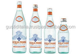 Panna water in glass bottle