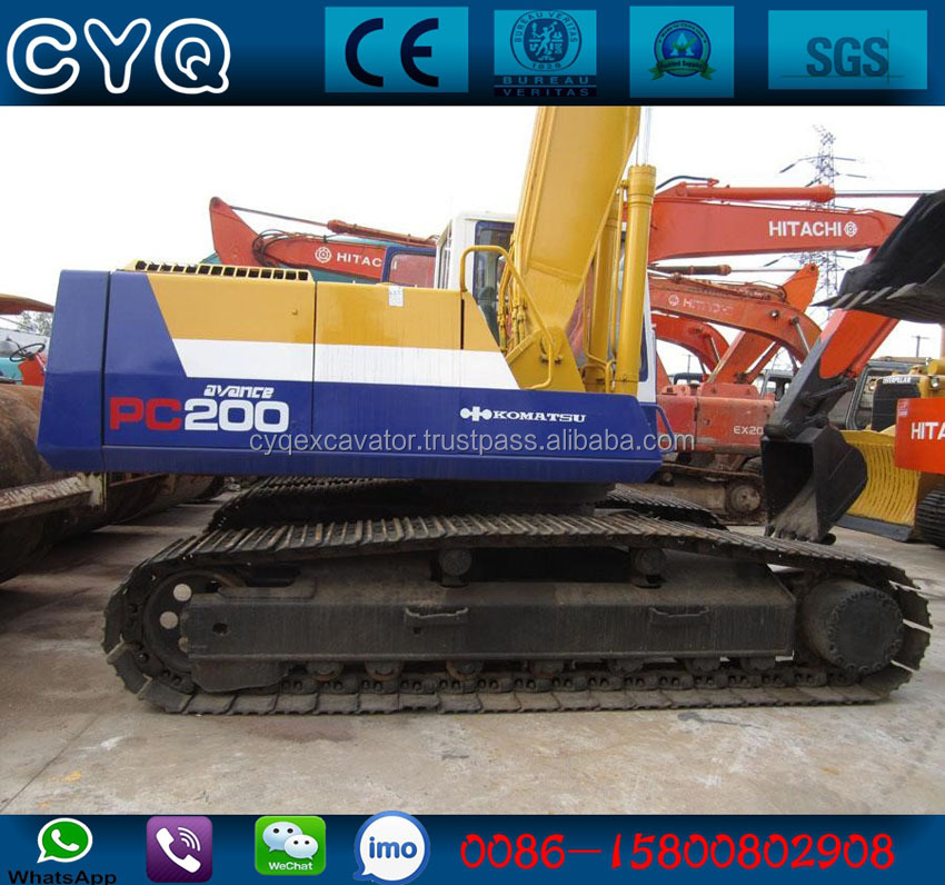 Used Komatsu PC200-5 hydraulic crawler excavator pc200, pc220 (whatsapp: 0086-15800802908)