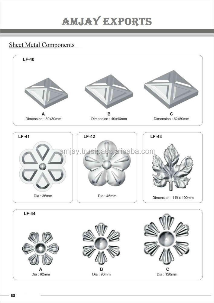 steel sheet metal leaves