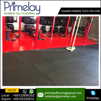 Gym Anti Slip / Skid Rubber Paver Floor Tiles Supplier | Manufacturer