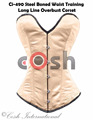 Overbust Peach Color Satin Steel Boned Waist Training Corsets Supplier, Regular, Curvy, Standard, Short Corsets Manufacturer