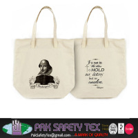 Customized Screen Printing Bags/Shopping Loop Handled Recycled Cotton Bags