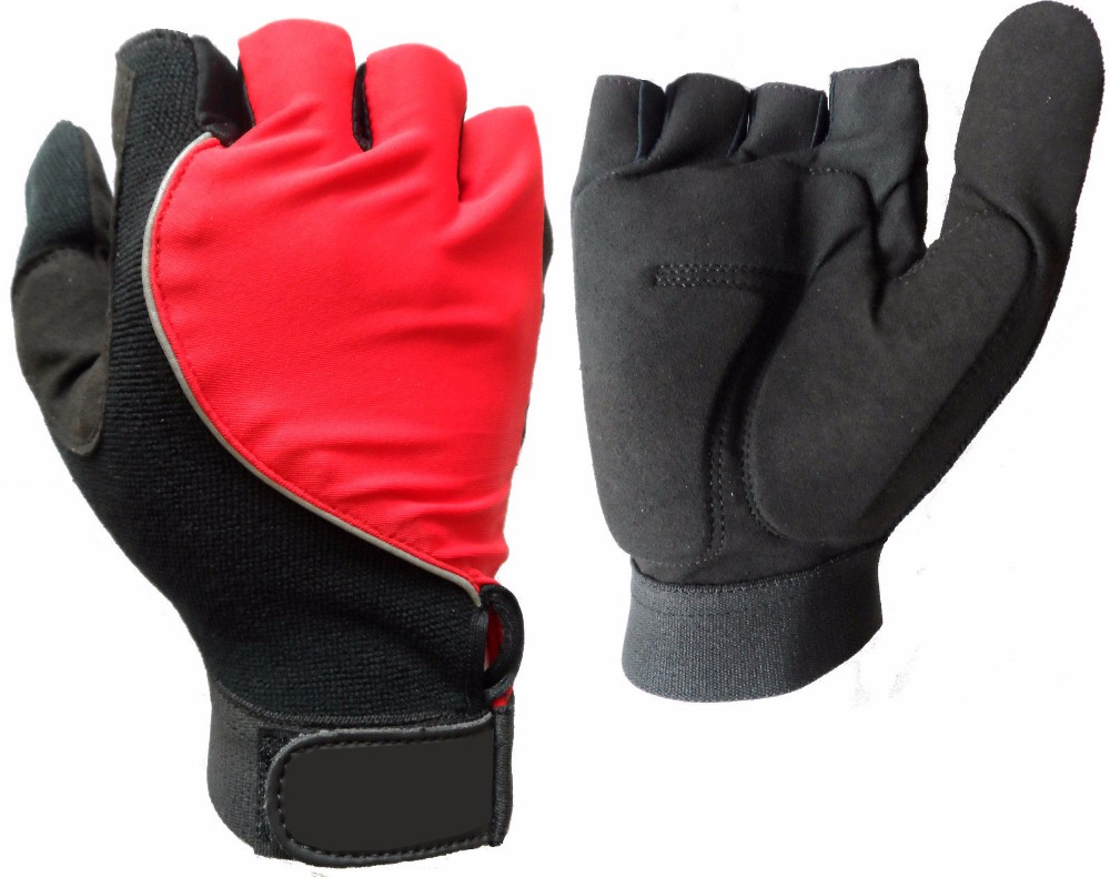 NEW FULL THUMB HALF FINGER GEL PADDED WHEELCHAIR SPECIFIC SPORT GLOVES