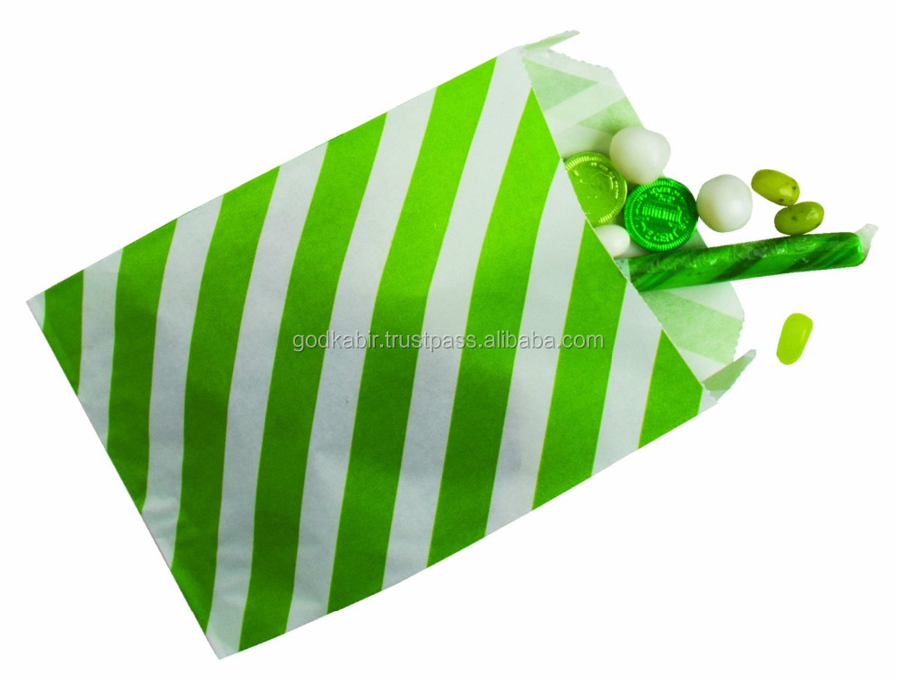 Beautiful look great design print base Party Partners Design 12 Count Christmas Paper Favor Bags, Lime Stripe./Latest gift bags.