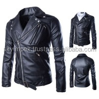 Leather Fashion Jacket for Men / Leather Products in Pakistan,Black Leather Motorcycle Jacket For Men