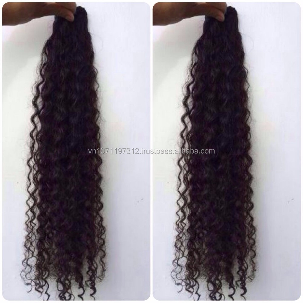 Mongolian bulk hair can be dyeable no chemicals unprocessed hair