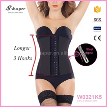 Factory Tight Body Shaper Corset,Body Shaper Suit For Women,Steel Boned Latex Waist Cinchers W0321K5