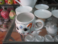cup cute animal picture, white cups