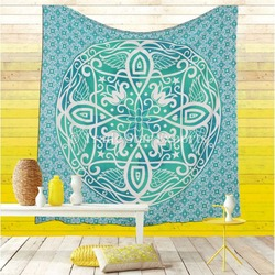 Ethnic Ombre Mandala Tapestries Cotton Wall Art Gypsy Dorm Decor Hippie Throw