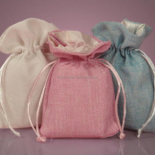wholesale best selling nature jute burlap drawstring gift bag
