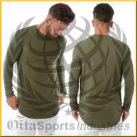 OEM service muscle fit long sleeve T-shirts with crew neck for men