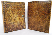 Fine Handmade Vintage Embossed Tree of Life Design Leather Notebook