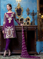 Fancy designed embroidered indian salwar suit