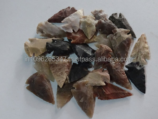1 and i1inche up Agate Arrowheads India Wholesaler Manufacturer