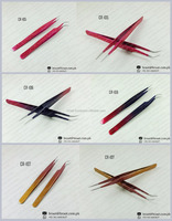 Braat 3D eyelash extension tweezers high quality pointed tweezers for professional