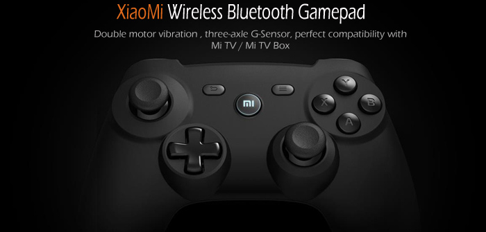 100% Original Xiaomi Wireless Bluetooth Gamepad Joypad Game Controller for Smart Phone TV Tablet PC Double Motor Vibration