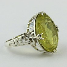 Natural Quality !! 925 Sterling Silver Lemon Topaz RIng Jewelry Handmade Design