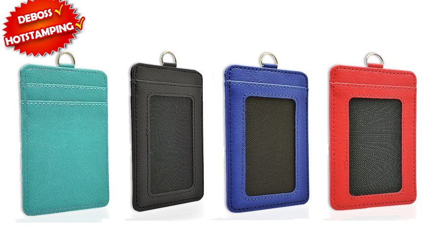 O0704 Thermo PU ID Card Holder with personalised logo printing