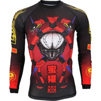 Top grade sublimated mma rash guards long arms