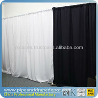 pipe and drape stands trade show booth