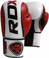 Maya Hide Leather Boxing Gloves Fight Punch Bag Muay Thai Pad Kick MMA
