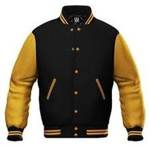 Varsity jacket wholesale with long leather Sleeve/custom man varsity jacket