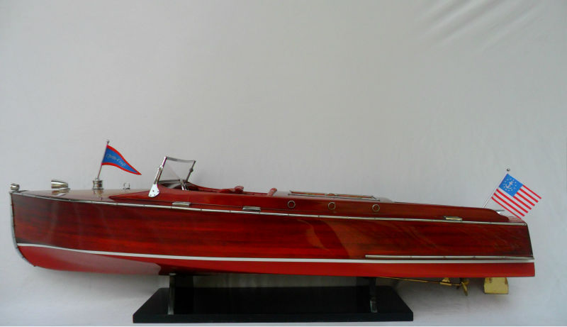 CHRIS CRAFT RACING RUNABOUT Wooden Models Ship Handicraft