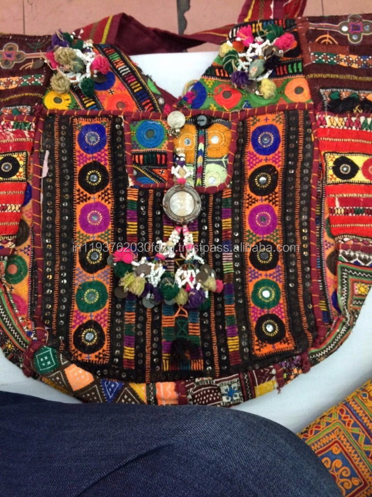 Hand Bag, Shoulder Bag, Embroidered, Beads work, Ethnic, Vintage, Purse, Handmade