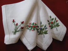 VietNam hand-embroidered Cotton / linen napkins