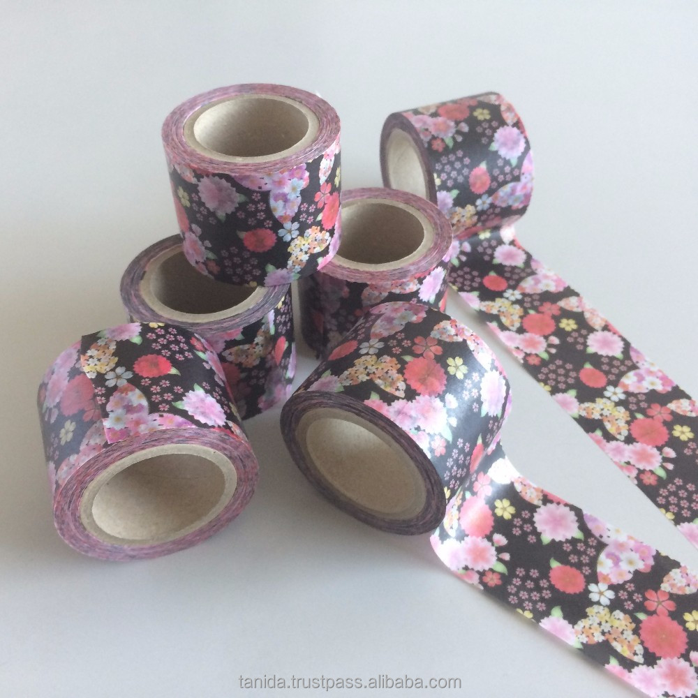 Famous and Best-selling custom printed washi tape Tanida with Colorful made in Japan