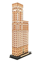 Old New York Time Building - Handmade wooden model