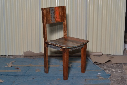 Recylced wood cafe Chair