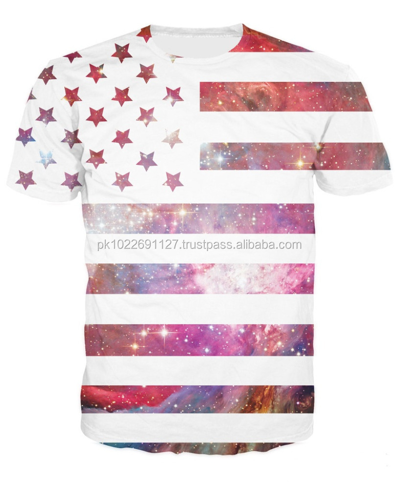 Universal Flag sublimation printing T shirt