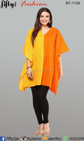Stylist Yellow & Orange Latest Short Kurti Collection For Girls